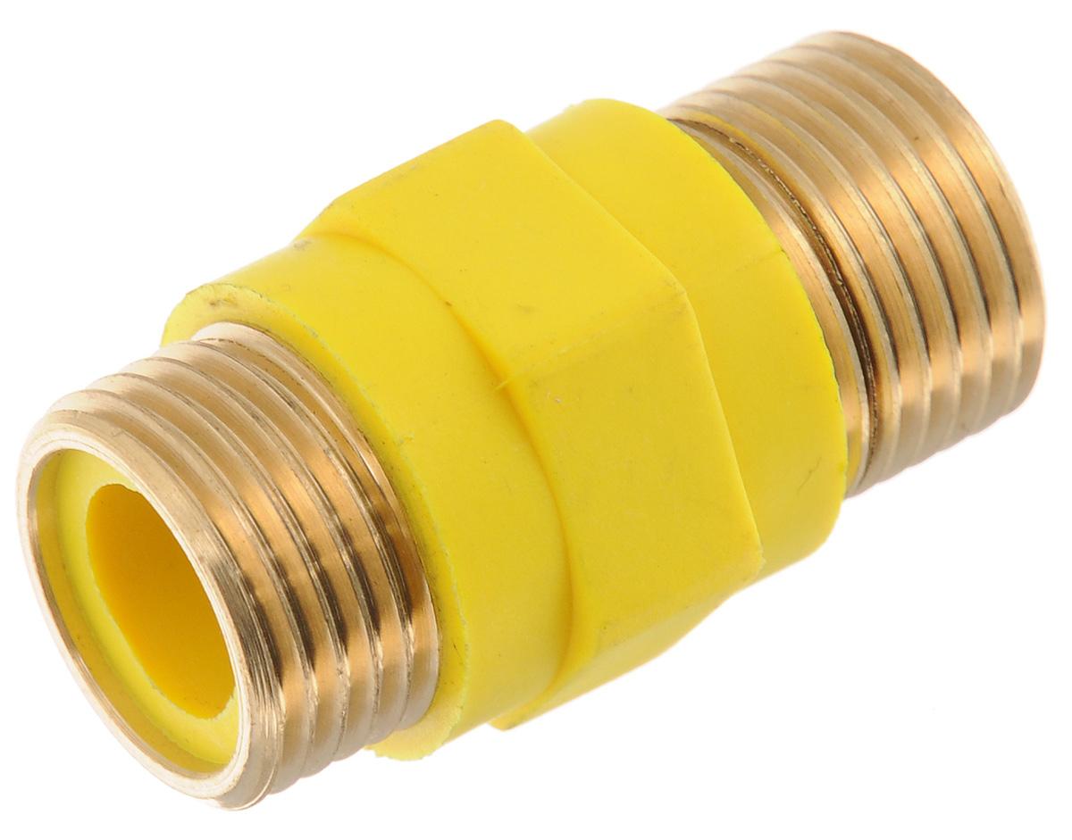 """Диэлектрический изолятор """"Tuboflex"""" исключает протекание через газопровод токов, утечки при возникновении электропотенциала на корпусе электрифицированного газового прибора (плиты, котла, бойлера и прочего), а также защищает электронные части газовых приборов. Диэлектрические вставки предназначены для монтажа на газопроводы, транспортирующие природный газ по ГОСТ 5542-87 и сжиженный газ по ГОСТ 20448-90, ГОСТ Р 52087-2003.В качестве электроизолятора применяется высококачественный стеклонаполненный полиамид. Стеклонаполненные полиамиды - это композитные материалы, в состав которых помимо полиамидной смолы входят структурированные стеклянные нити. Они отличаются повышенной прочностью, устойчивостью к ударным нагрузкам, химической инертностью, что делает их масло и бензостойкими. Также стеклонаполненные полиамиды характеризуются хорошими диэлектрическими свойствами.Отсутствие диэлектрической вставки может стать причиной утечки газа в следствии прожига гибкой подводки электрической дугой.Диаметр: 1/2"""".Номинальное давление: PN 0,6 Мпа.Рабочая температура: от -60°C до +100°C.Вставка не требует поверки и обслуживания в процессе эксплуатации."""