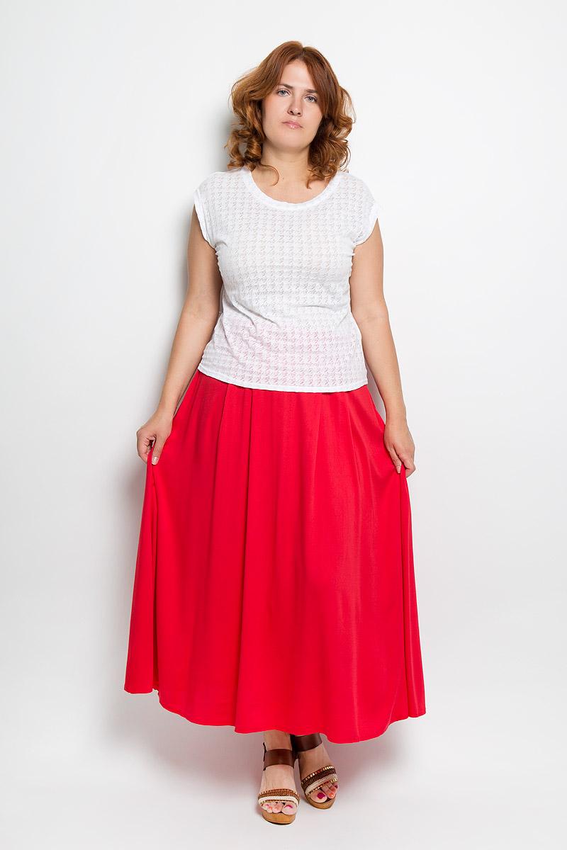 Юбка Milana Style, цвет: красный. 15-05-05. Размер 4615-05-05Модная юбка Milana Style, изготовленная из высококачественного хлопкового материала, очень мягкая на ощупь, не раздражает кожу и хорошо вентилируется. Модель макси длины на широком поясе с посадкой на талии, застегивается на потайную молнию в боковом шве. Стильная юбка модной длины позволит вам создать неповторимый женственный образ. В таком наряде вы, безусловно, привлечете восхищенные взгляды окружающих.
