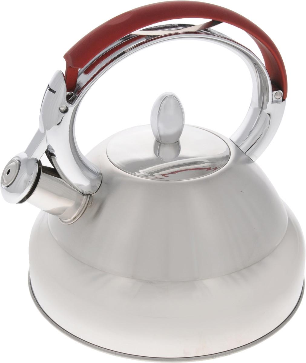 Чайник Mayer & Boch, со свистком, 3,2 л. 32913291Чайник Mayer & Boch выполнен из высококачественной нержавеющей стали, что делает его весьма гигиеничным и устойчивым к износу при длительном использовании. Чайник оснащен неподвижной металлической ручкой и откидным свистком, который громким сигналом подскажет, когда вода закипела. Подходит для газовых, электрических, стеклокерамических и индукционных плит. Можно мыть в посудомоечной машине. Диаметр (по верхнему краю): 9 см. Диаметр основания: 22 см. Диаметр индукционного диска: 17.5 см.Высота чайника (с учетом ручки и крышки): 23 см.