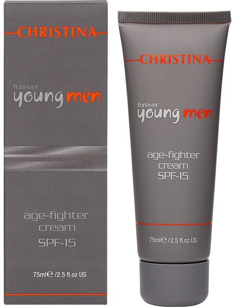 Christina Крем против старения для мужчин Forever Young Age Fighter Cream SPF15 75 мл крем christina young lip zone revitalizer spf 15