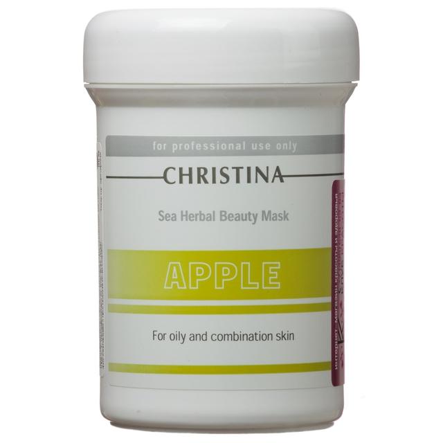 Christina Яблочная маска красоты для жирной и комбинированной кожи Sea Herbal Beauty Mask Green Apple 250 млM-576Яблочная маска красоты для жирной и комбинированной кожи Christina Sea Herbal Beauty Mask Green Apple обеспечит увлажнение дегидрированной коже. Не содержащая жиров формула объединила в себе успокаивающие растительные ингредиенты и высокоактивные гидрирующие вещества, которые оказывают оживляющее, освежающее и обновляющее действия на усталую кожу.Яблочная маска красоты для жирной и комбинированной кожи Christina содержит фруктовые кислоты, добываемые из яблока, которые улучшают текстуру кожи и препятствуют появлению признаков старения. Маска не высыхает, обладает кремообразной консистенцией и обеспечивает постоянный питательный эффект.