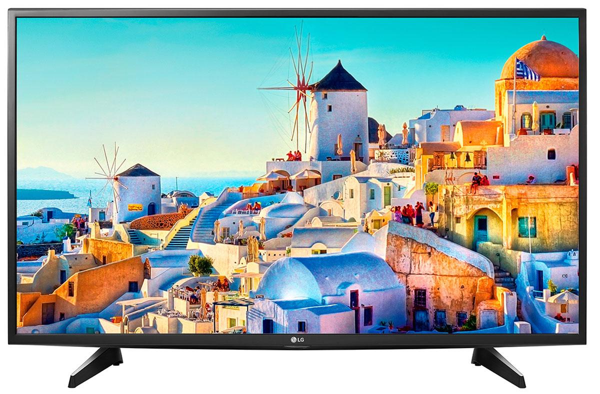LG 43UH610V телевизор43UH610VСовременный телевизор LG 43UH610V для всей семьи. HDR Pro:Функция HDR Pro позволяет увидеть фильмы с теми яркостью, богатейшей палитрой и точностью цветовых оттенков, с какими они были сняты.Трёхмерная обработка цвета:В новых UHD телевизорах LG используется трёхмерный алгоритм обработки цвета, что позволяет минимизировать искажения и добиться оттенков, максимально приближенных к натуральным.Энергосбережение:Эта функция включает в себя контроль подсветки, который позволяет регулировать яркость экрана в целях экономии электроэнергии.ULTRA Surround:Специальный алгоритм преобразовывает звуковые волны, исходящие из двухканальных динамиков так, что вам будет казаться, что вы слушаете 7-канальный звук. Получите ещё больше удовольствия от просмотра 4К фильмов!webOS 3.0:Обновлённая операционная система LG SMART TV на базе webOS 3.0 создана для того, чтобы доступ к фильмам, сериалам, музыке и интернет-порталам через телевизор был простым и удобным.