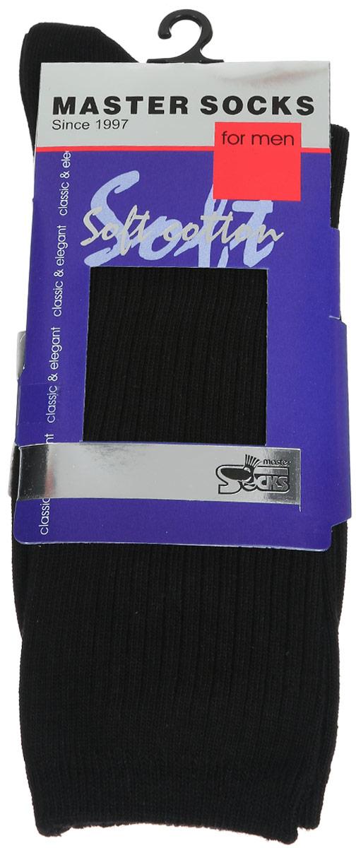 Носки мужские Master Socks, цвет: черный. 88105. Размер 2788105Удобные носки Master Socks, изготовленные из высококачественного комбинированного материала, очень мягкие и приятные на ощупь, позволяют коже дышать. Эластичная резинка плотно облегает ногу, не сдавливая ее, обеспечивая комфорт и удобство. Носки с паголенком классической длины. Практичные и комфортные носки великолепно подойдут к любой вашей обуви.
