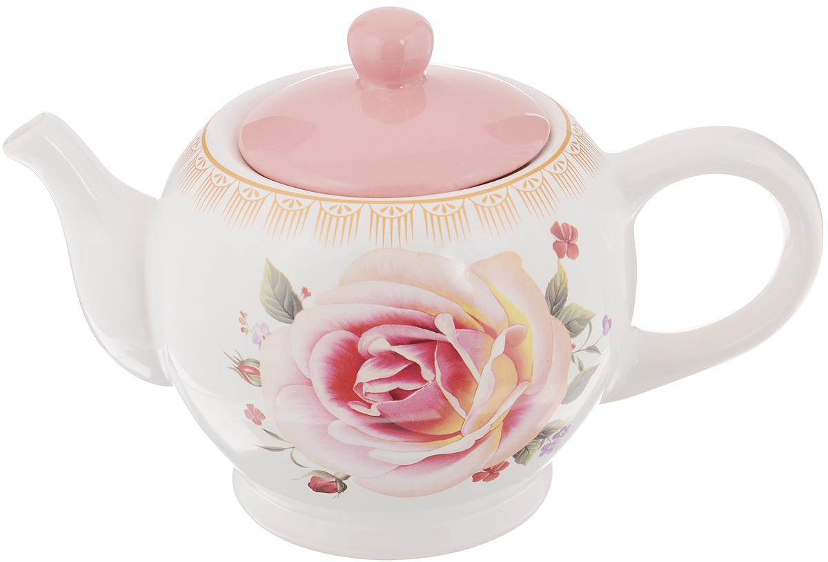 Чайник заварочный Loraine Нежность, 950 мл22Заварочный чайник Loraine Нежность изготовлен из высококачественной керамики и оформленкрасочным рисунком. Гладкая и идеально ровная поверхность обеспечивает легкую очистку.Чайник поможет заварить крепкий ароматный чай и великолепно украсит стол к чаепитию. Можно использовать в посудомоечной машине.Высота чайника (без учета крышки): 12 см. Высота чайника (с учётом крышки): 15 см. Диаметр чайника (по верхнему краю): 10 см.Диаметр основания чайника: 9,3 см.