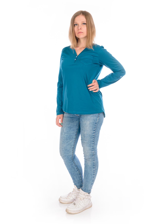 Лонгслив женский RAV, цвет: синий. RAV02-006. Размер S (44) куртка brooks island dwr