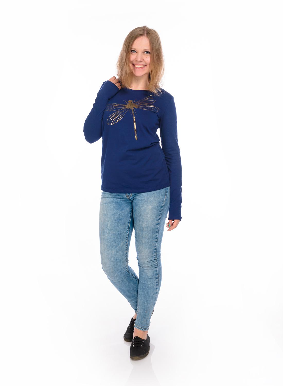 Лонгслив женский RAV, цвет: темно-синий. RAV02-013. Размер S (44) kilian cruel intentions