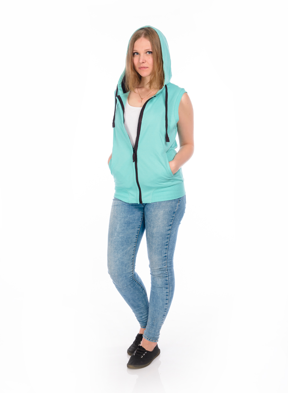 Жилет женский RAV, цвет: светло-бирюзовый. RAV02-017. Размер L (48) женский гардероб