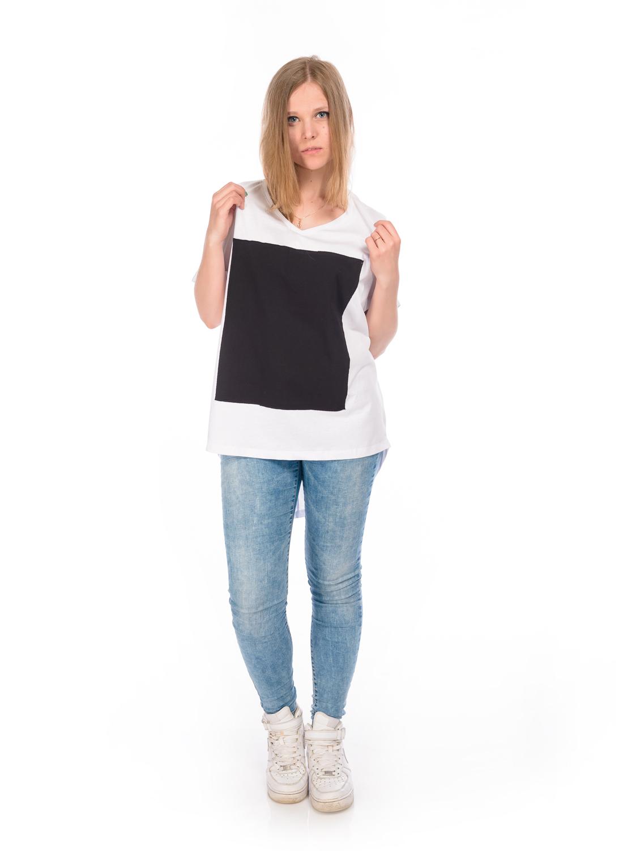 Туника женская RAV цвет белый черный RAV04-003 Размер S 44
