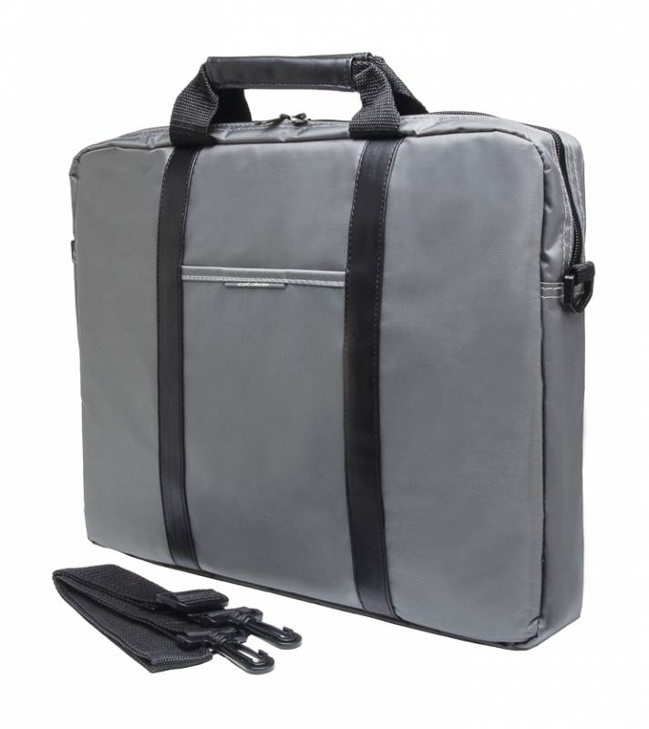 Сумка для ноутбука 15.6 PC Pet PCP-1003GR, Grey BlackPCP-1003GRПростая, тонкая сумка для ноутбуков с экраном диагональю 15,6 дюйма, выполненная из прочного и износостойкого нейлона. Внутри сумка обшита мягким материалом, который препятствует появлению царапин.