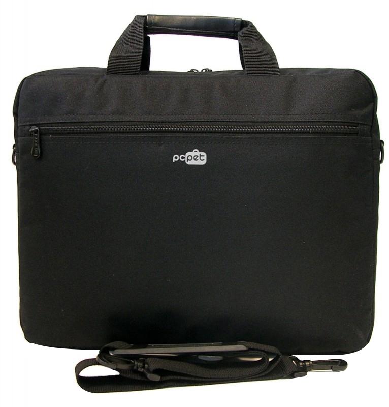 Сумка для ноутбука 15.6 PC Pet Dream, Black (PCP-A1415BK)PCP-A1415BKПростая, тонкая сумка для ноутбуков с экраном диагональю 15.6 дюйма, выполненная из прочного и износостойкого нейлона. Внутри сумка обшита мягким материалом, который препятствует появлению царапин.
