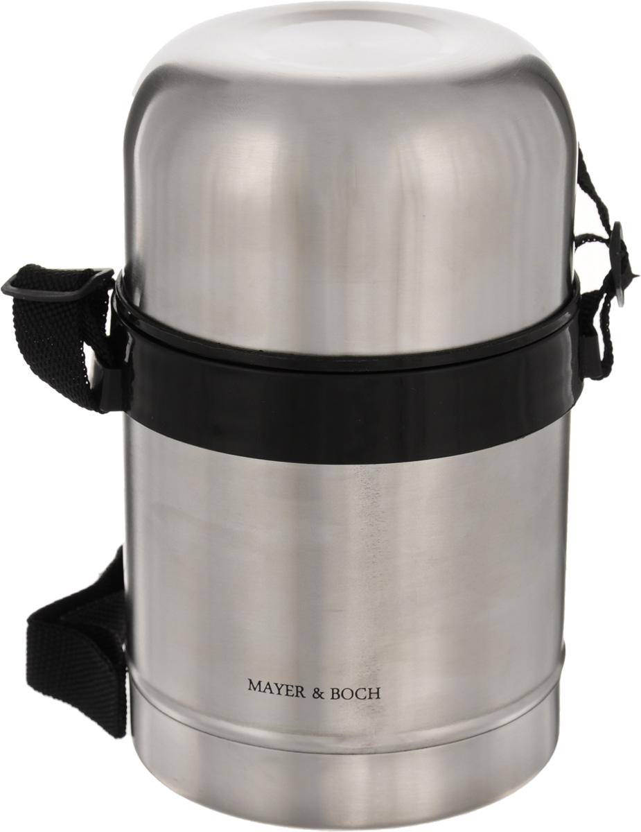 Термос пищевой Mayer & Boch, 500 мл. 2314823148Термос с широким горлом Mayer & Boch, изготовленный из высококачественной нержавеющей стали 18/10, прост в использовании и многофункционален. Изделие имеет двойные стенки, что позволяет содержимому долго оставаться горячим или холодным. Термос снабжен удобной крышкой-чашкой. Для удобной переноски предусмотрен специальный ремешок. Термос сохраняет температуру горячих или холодных продуктов до 12 часов. Крышка плотно закрывается. Не рекомендуется мыть в посудомоечной машине.Высота (с учетом крышки): 17,5 см.Диаметр горлышка: 8 см.Диаметр чашки: 9,5 см.Высота чашки: 6 см.