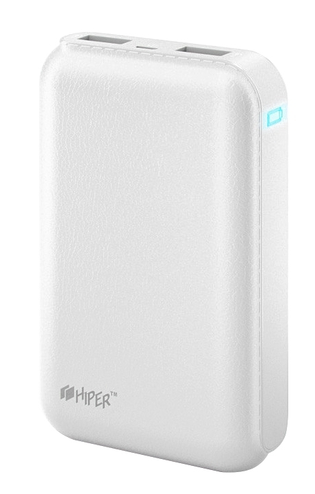 Внешний аккумулятор HIPER Power Bank SP7500, White (7500 мАч)SP7500 WHITEPower bank HIPER SP7500 Li-Ion 7500mAh 2.1A+1A white