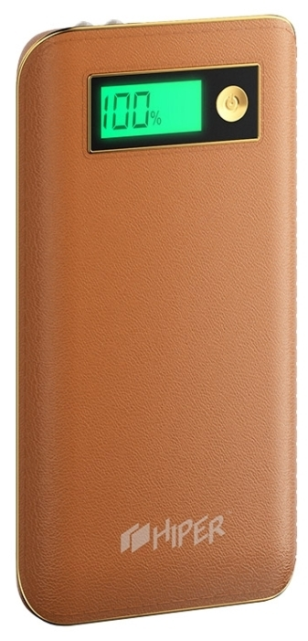 Внешний аккумулятор HIPER Power Bank XPX6500, Brown (6500 мАч)XPX6500 BROWNPower bank HIPER PowerBank XPX6500 6500mAh 2.1A brown