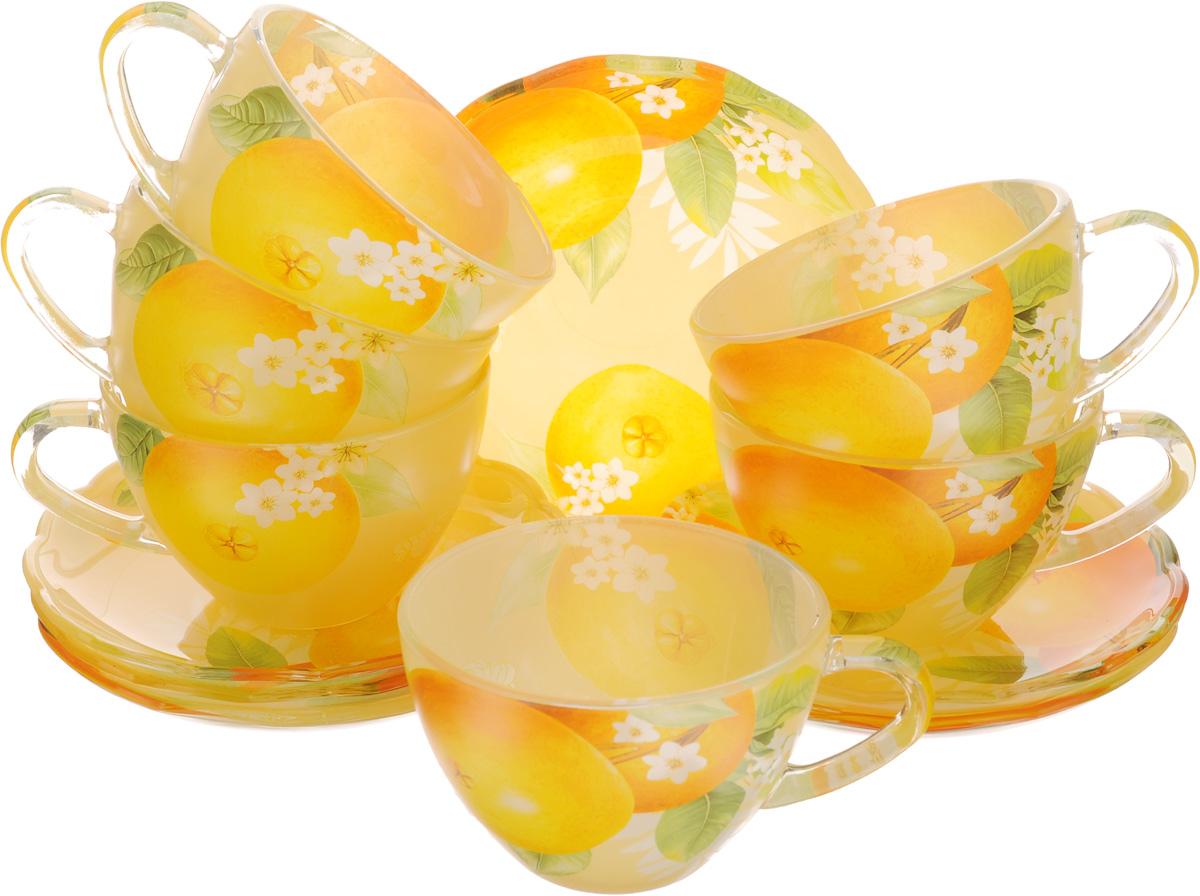 Набор чайный Loraine, 12 предметов. 2411824118Чайный набор Loraine состоит из шести чашек и шести блюдец. Предметы набора изготовлены извысококачественного стекла.Чайный набор изысканного утонченного дизайна украсит интерьер кухни. Прекрасно подойдет как дляторжественных случаев, так и для ежедневного использования. Объем чашки: 200 мл.Диаметр чашки (по верхнему краю): 9,2 см.Высота стенки чашки: 6,5 см. Диаметр блюдца (по верхнему краю): 13,5 см. Высота блюдца: 2 см.