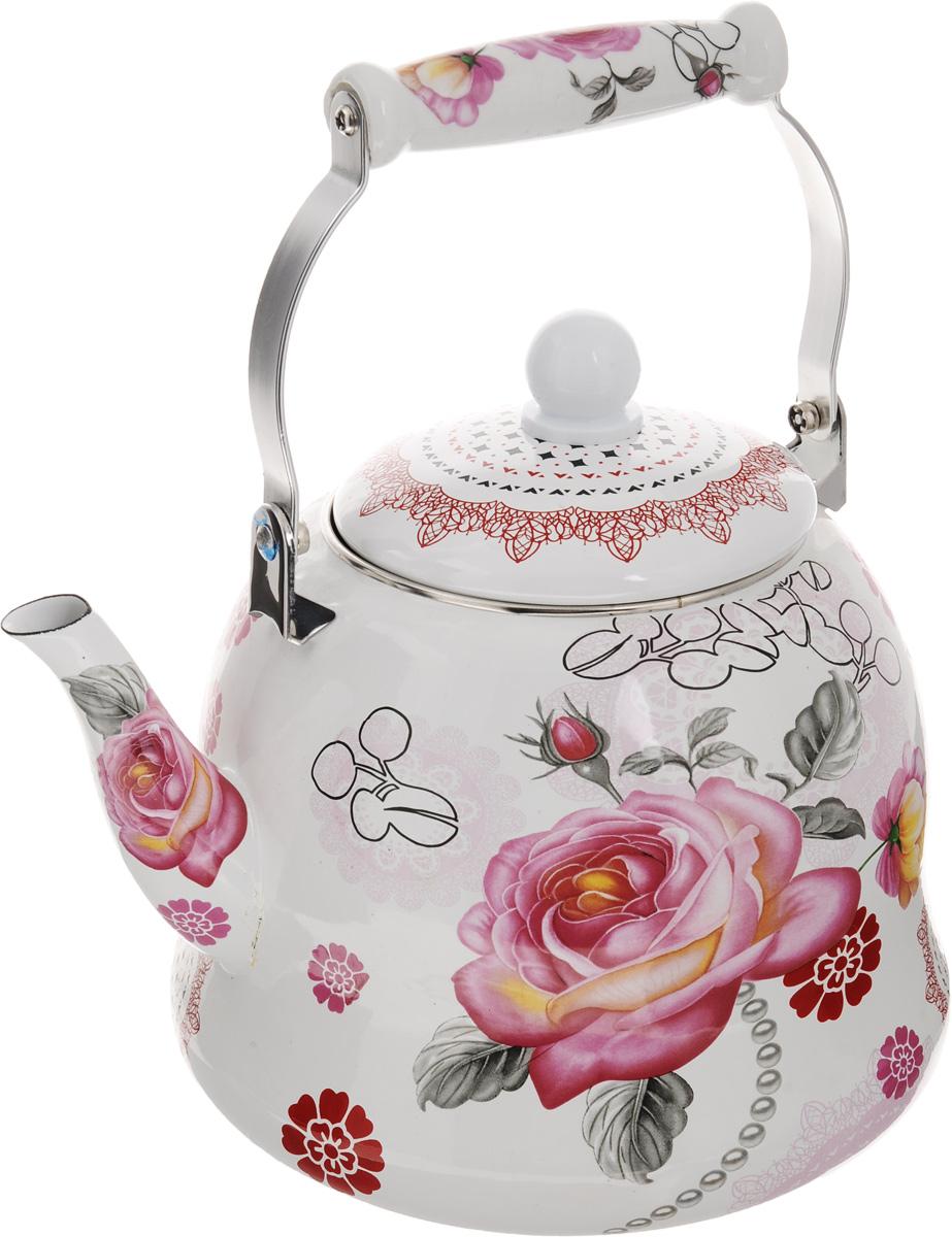 Чайник эмалированный Mayer & Boch Цветы, 5 л. 23932