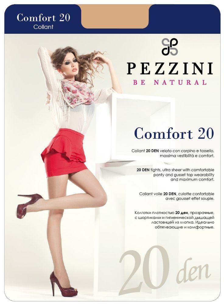 Колготки Pezzini Comfort 20, цвет: Abbronzante (бронзовый). Co20-ab. Размер 4 колготки 20 den коньяк argentovivo колготки 20 den коньяк