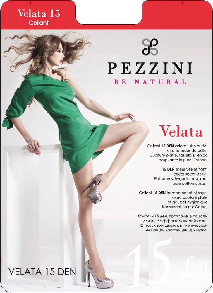 Колготки Pezzini Velata 15, цвет: Nero (черный). Ve15-ne. Размер 3 pezzini носки