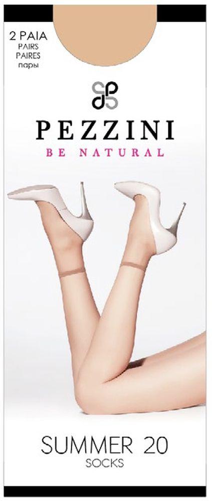 Носки женские Pezzini Summer 20, цвет: Cognac (коричневый), 2 пары. Su20-co-un. Размер универсальныйSu20-co-unУдобные женские носки Pezzini Summer 20, изготовленные из высококачественного эластичного полиамида, идеально подойдут для повседневной носки. Входящий в состав материала полиамид обеспечивает износостойкость, а эластан позволяет носочкам легко тянуться, что делает их комфортными в носке.Эластичная резинка плотно облегает ногу, не сдавливая ее, обеспечивая комфорт и удобство и не препятствуя кровообращению. Практичные и комфортные носки с укрепленным прозрачным мыском великолепно подойдут к любой открытой обуви. В комплект входят 2 пары носков. Плотность: 20 den.