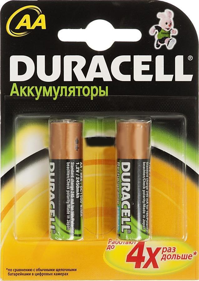 цена на Аккумулятор Duracell HR6-2BL AA NiMH 2400 мАч, 2 шт