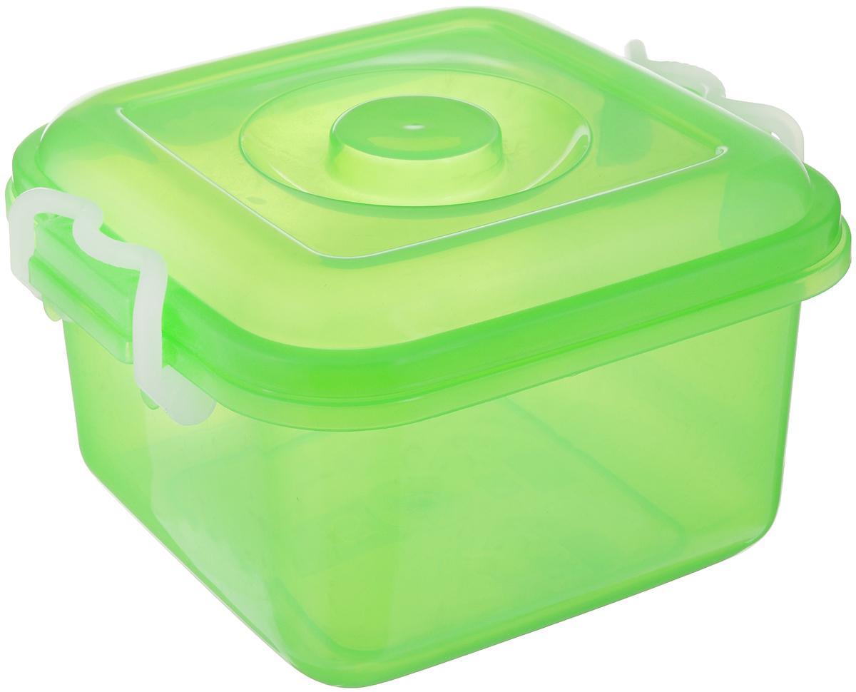 Контейнер для хранения Idea Океаник, цвет: зеленый, 6 лМ 2855Контейнер Idea Океаник, выполненный из высококачественного пищевого полипропилена, предназначен для хранения различных вещей. Он снабжен плотно закрывающейся крышкой со специальными боковыми фиксаторами.Вместительный контейнер позволит сохранить ваши вещи в порядке, а герметичная крышка предотвратит случайное открывание, а также защитит содержимое от пыли и грязи.