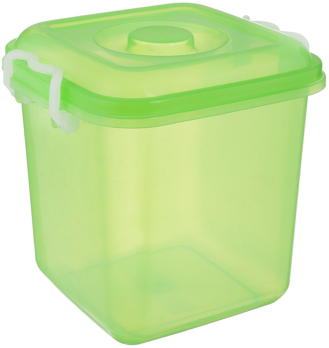 Контейнер для хранения Idea Океаник, цвет: зеленый, 10 лМ 2857Контейнер Idea Океаник, выполненный из высококачественного пищевого полипропилена, предназначен для хранения различных вещей. Он снабжен плотно закрывающейся крышкой со специальными боковыми фиксаторами.Вместительный контейнер позволит сохранить ваши вещи в порядке, а герметичная крышка предотвратит случайное открывание, а также защитит содержимое от пыли и грязи.
