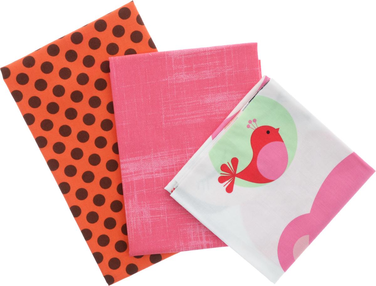 Ткань для пэчворка RTO, 3 отреза, 55 х 55 см. PST-2/80PST-2/80Ткань RTO, изготовленная из 100% хлопка, предназначена для пошива одеял, покрывал, сумок, аппликаций и прочих изделий в технике пэчворк. Также подходит для пошива кукол, аксессуаров и одежды.Пэчворк - это вид рукоделия, при котором по принципу мозаики сшивается цельное изделие из кусочков ткани (лоскутков).