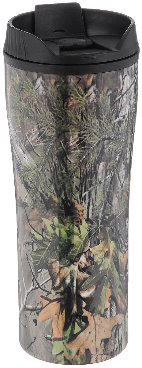 Кружка-термос Mayer & Boch, цвет: серый, зеленый, 560 мл
