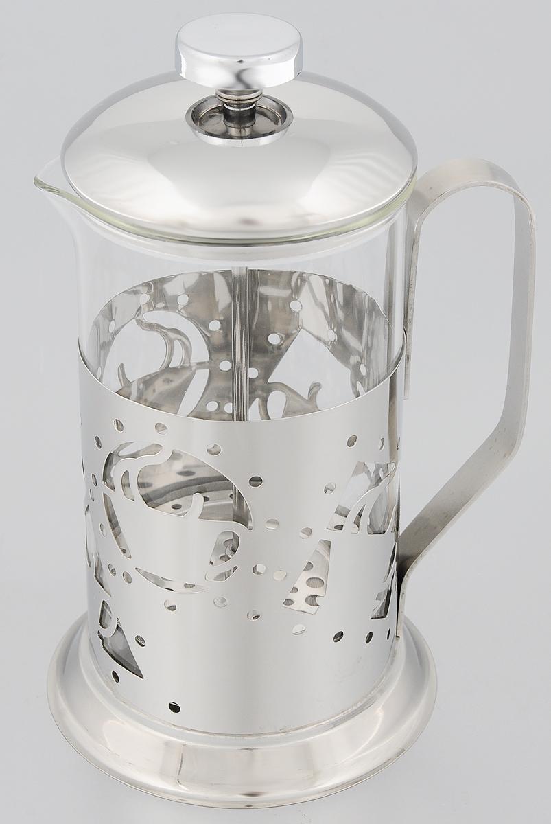 Френч-пресс Mayer & Boch, 600 мл. 81298129Френч-пресс Mayer & Boch позволит быстро и просто приготовить свежий и ароматный чай или кофе. Корпус изготовлен из высококачественного жаропрочного стекла, устойчивого к окрашиванию, царапинам и термошоку. Фильтр-поршень из нержавеющей стали выполнен по технологии press-up для обеспечения равномерной циркуляции воды. Готовить напитки с помощью френч-пресса очень просто. Насыпьте внутрь заварку и залейте кипятком. Остановить процесс заваривания легко. Для этого нужно просто опустить поршень, и заварка уйдет вниз, оставляя вверху напиток, готовый к употреблению. Заварочный чайник с прессом - это совершенный чайник для ежедневного использования. Практичный и стильный дизайн полностью соответствует последним модным тенденциям в создании предметов кухонной утвари.Можно мыть в посудомоечной машине.Диаметр колбы: 8,5 см. Диаметр основания: 11 см.Высота (с учетом крышки): 21 см.