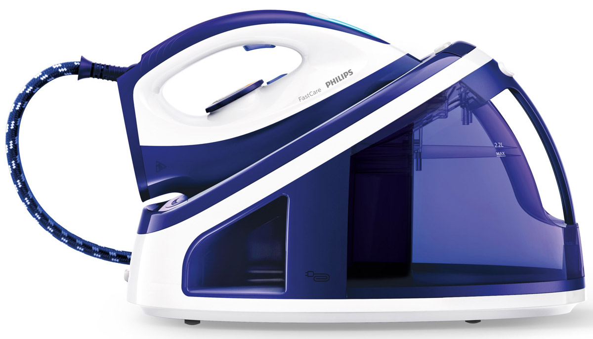 Philips GC7703/20, White Blue парогенераторGC7703/20Большой съемный резервуар для удобного наполнения водой, мощная подача пара и керамическая подошва SteamGlide помогают значительно сократить время глаженья. Фиксация для переноски Carry Lock и Smart CalcClean гарантируют удобное использование.Большой съемный резервуар для воды 2,2 л — идеальный объем для всей семьи:Большой съемный резервуар для удобного наполнения водой, мощная подача пара и керамическая подошва SteamGlide помогают значительно сократить время глаженья. Фиксация для переноски Carry Lock и Smart CalcClean гарантируют удобное использование.Фиксация Carry Lock для удобной и безопасной переноски:Парогенератор поставляется в комплекте с замком для безопасной переноски Carry Lock. Фиксация парогенератора на базе обеспечивает безопасность и сокращает риск прикосновения к горячей подошве. Вы также сможете легко переносить прибор.Наполнение водопроводной водой в любое время:Парогенератор предназначен для использования с водопроводной водой. Если во время глажения вода в резервуаре закончилась, вы можете легко и быстро долить воду, не выключая прибор. Тихая подача пара: гладьте за просмотром телевизора, не отвлекаясь на шум:Что вы предпочитаете делать во время глажения: смотреть телевизор или слушать музыку? Этот парогенератор обеспечивает пониженный уровень шума, чтобы вы в любом случае гладили с удовольствием.Интеллектуальное звуковое и визуальное напоминание об очистке от накипи:Smart Calc Clean — это встроенная функция обычной очистки и очистки от накипи, созданная в целях защиты прибора. Парогенератор напоминает о необходимости очистки от накипи, чтобы обеспечить оптимальную подачу пара, долгий срок службы и предотвратить появление белых хлопьев. Для максимального удобства используйте контейнер Smart Calc Clean, входящий в комплект.Превосходное легкое скольжение благодаря керамической подошве SteamGlide:Керамическая подошва SteamGlide устойчива к царапинам и обеспечивает отличное скольжение для превосход
