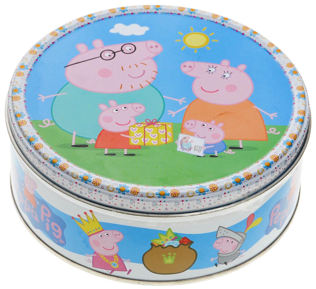 Peppa Pig печенье сдобное с кусочками шоколада, 150 г4600416016891_четыре свинкиМиньоны – это суперпопулярные забавные желтые существа, ставшие известными благодаря мультфильмам Гадкий я (Despicable Me) и Гадкий я – 2.Натуральный состав, узнаваемые персонажи и яркий дизайн подарочных банок делают печенье Миньоны отличным подарком для широкой возрастной категории их поклонников.
