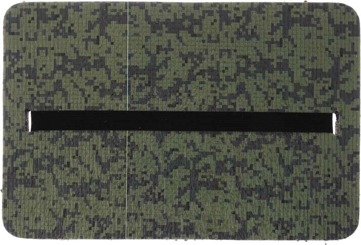 Коврик-сиденье Eva Камуфляж, дачный, 33 х 22,5 х 1,5 смК012_зеленый/цифраМягкий дачный коврик для сидения Eva Камуфляж, изготовленный из пенополиэтилена, имеет небольшие размеры. Он обеспечит вам удобство и чистоту одежды. Такой коврик обладает закрытой пористой структурой, за счет чего он характеризуется небольшим весом, низкой теплопроводностью, хорошими водоотталкивающими свойствами и прочностью. Поэтому он наилучшим образом приспособлен для сидения на сырой и холодной земле (под открытым небом, в палатке или спальнике). Изделие оснащено эластичным ремешком на защелке.