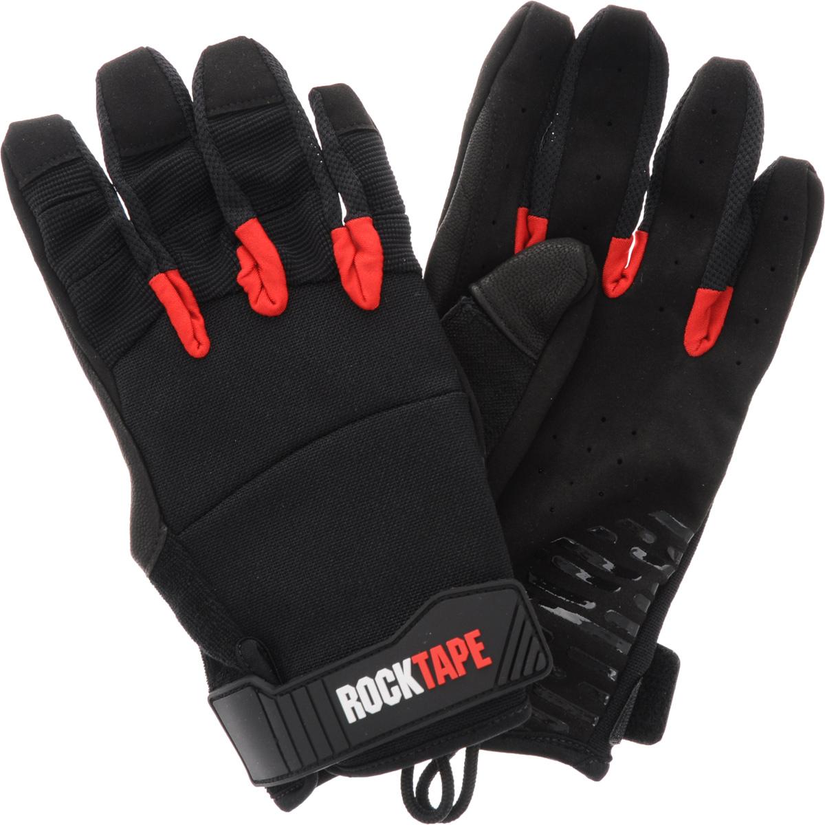 Перчатки Rocktape Talons, цвет: черный, красный. Размер MRTTls-MRocktape Talons - это функциональные перчатки для спорта. Руль велосипеда, турник, штанга - за что бы вы ни взялись, перчатки обеспечатмаксимальную защиту и поддержку! Уверенный хват и больше никаких стертых рук, волдырей и мозолей! Особенности перчаток: Дружелюбны к сенсорным экранам. Без швов на ладонях. Силиконовая накладка false-grip поможет в выходах силой. Защита большого пальца при захвате штанги. Впитывают пот. Дышащий материал по боковым поверхностям пальцев. Удобные петли. Рассчитаны на работу с мелом. Обхват ладони ниже костяшки: 20 см.
