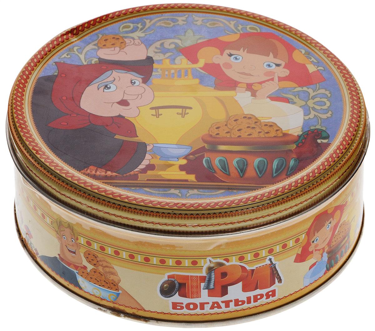 Три богатыря печенье сдобное с кусочками шоколада, 150 г купить печенье с предсказанием
