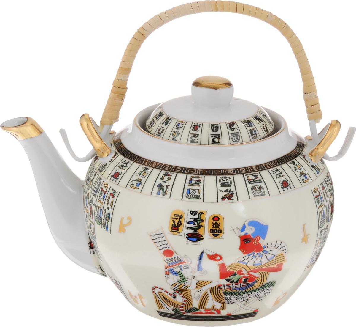 Чайник заварочный Loraine Египет, с фильтром, 1 л. 2113221132Заварочный чайник Loraine Египет изготовлен из керамики и оформлен красивым рисунком. Чайникоснащен сетчатым фильтром из металла, который задерживает чаинки и предотвращает их попадание в чашку. Заварочный чайник Loraine Египет займет достойное место на вашей кухне, атакже послужит хорошим подарком для друзей и близких.Диаметр: 6 см.Диаметр основания: 9 см.Высота фильтра: 5 см.Высота чайника (без учета ручки и крышки): 11 см.