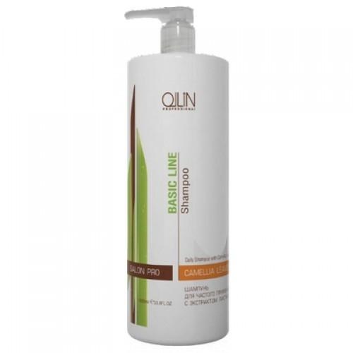 ollin шампунь для ежедневного применения рн 5 5 service line daily shampoo ph 5 5 1000 мл Ollin Шампунь для частого применения с экстрактом листьев камелии Basic Line Daily Shampoo 750 мл
