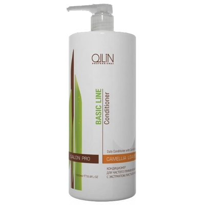 ollin шампунь для ежедневного применения рн 5 5 service line daily shampoo ph 5 5 1000 мл Ollin Кондиционер для частого применения с экстрактом листьев камелии Basic Line Daily Conditioner with Camellia Leaves Extract -750 мл