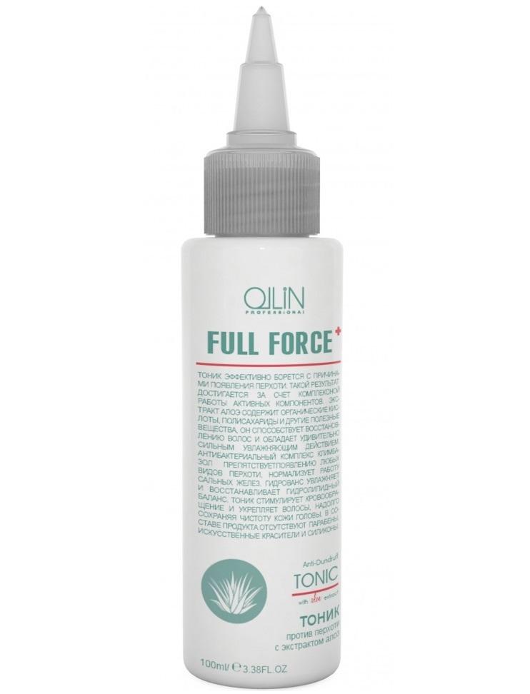 Ollin Тоник против перхоти с экстрактом алоэ Full Force Anti-Dandruff Tonic 100 мл725683Тоник эффективно борется с причинами появления перхоти. Такой результат достигается за счет комплексной работы активных компонентов. Экстракт алоэ содержит органические кислоты, полисахариды и другие полезные вещества, он способствует восстановлению волос и обладает удивительно сильным увлажняющим действием. Антибактериальный комплекс Климбазол препятствует появлению любых видов перхоти, нормализует работу сальных желез. Гидрованс увлажняет и восстанавливает гидролипидный баланс. Тоник стимулирует кровообращение и укрепляет волосы, надолго сохраняя чистоту кожи головы.Без искусственных красителей, Без парабенов, Без силиконов