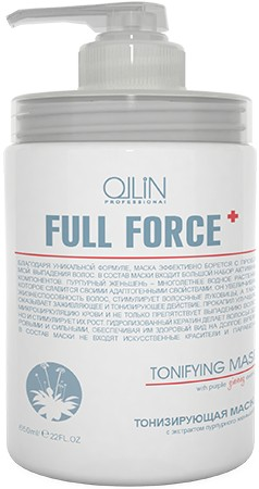 Ollin Тонизирующая маска с экстрактом пурпурного женьшеня Full Force Hair Growth Tonic Mask 650 мл new sexy vs045 1 6 black and white striped sweather stockings shoes clothing set for 12 female bodys dolls