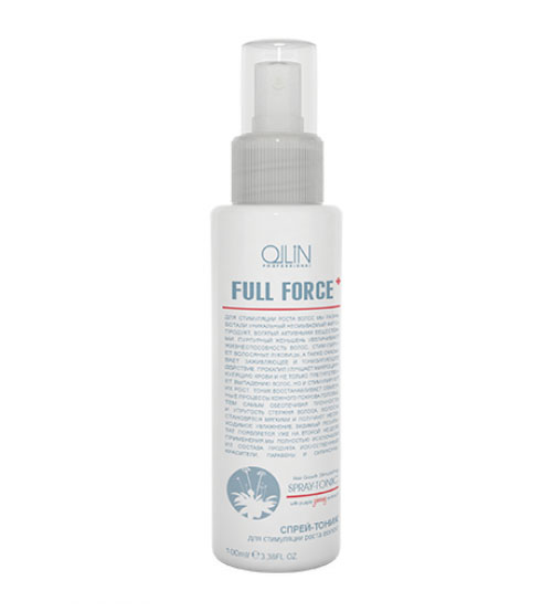 Ollin Спрей-тоник для стимуляции роста волос с экстрактом женьшеня Full Force Hair Growth Stimulating Spray-Tonic 100 мл ollin спрей тоник для стимуляции роста волос ollin