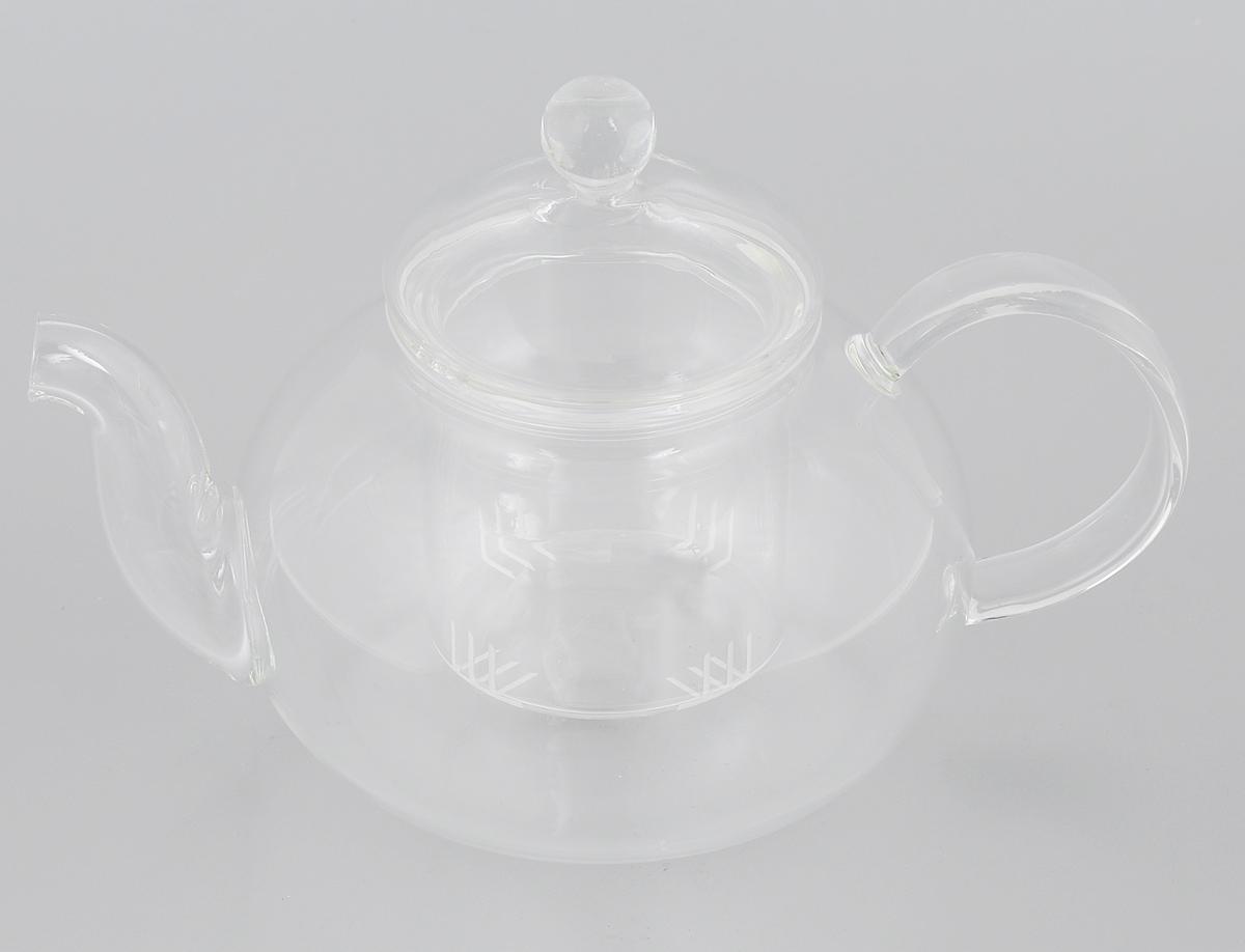 """Заварочный чайник """"Mayer & Boch"""" изготовлен из термостойкого боросиликатного стекла - прочного износостойкого материала. Изделие оснащено фильтром и крышкой, выполненной из стекла. Простой и удобный чайник поможет вам приготовить крепкий, ароматный чай. Дизайн изделия впишется в интерьер любой кухни.  Можно мыть в посудомоечной машине. Не использовать в микроволновой печи. Диаметр (по верхнему краю): 7,5 см. Диаметр основания: 10 см.  Высота чайника (без учета крышки): 9,5 см.  Высота чайника (с учетом крышки): 14 см.  Высота фильтра: 6,8 см."""
