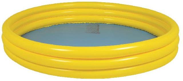 Бассейн надувной Jilong Plain Pool, детский, цвет: желтый, 157 х 157 х 25 смJL010304-1NPFДетский надувной бассейн Jilong Plain Pool будет просто незаменим в летний жаркий день на даче. Бассейн круглой формы выполнен из прочного ПВХ. Упругие стенки бассейна представляют собой три прочных кольца. Яркий дизайн бассейна сделает его не только незаменимыматрибутом летнего отдыха, но и дополнением ландшафтного дизайна участка. В комплект входит самоклеющаяся заплатка. Рекомендуемый возраст: 3-6 лет. Рекомендуемый вес пользователя: 18-30 кг. Обращаем ваше внимание на тот факт, что бассейнпоставляется в сдутом виде и надувается при помощи насоса (не входит в комплект). Диаметр: 157 см. Высота: 25 см. Объем бассейна: 300 л.