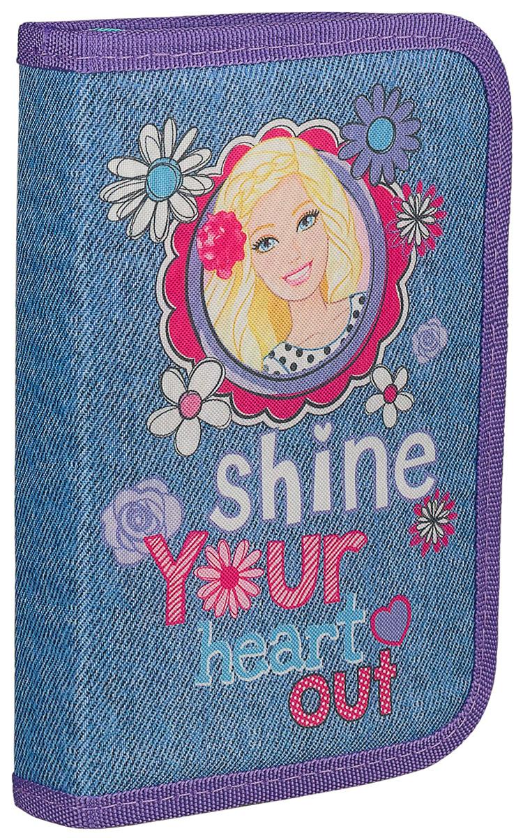 Barbie Пенал жесткий Shine Your Heart OutBRCB-RT2-031Пенал Barbie Shine Your Heart Out станет не только практичным, но и стильным школьным аксессуаром для девочки.Пенал выполнен из прочных материалов и закрывается на застежку-молнию. Состоит из одного вместительного отделения с откидным клапаном внутри и креплениями для канцелярских принадлежностей. Для обеспечения дополнительной износоустойчивости, пенал имеет отделку текстилем по краю, а также дополнен закругленными уголками. Такой пенал станет незаменимым помощником для школьника, с ним ручки и карандаши всегда будут под рукой и больше не потеряются.