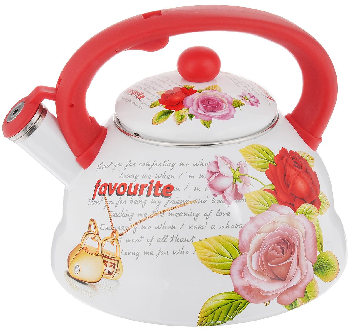 Чайник эмалированный Mayer & Boch, со свистком, 3 л. 23081 gipfel чайник для кипячения воды visit 2 7 л