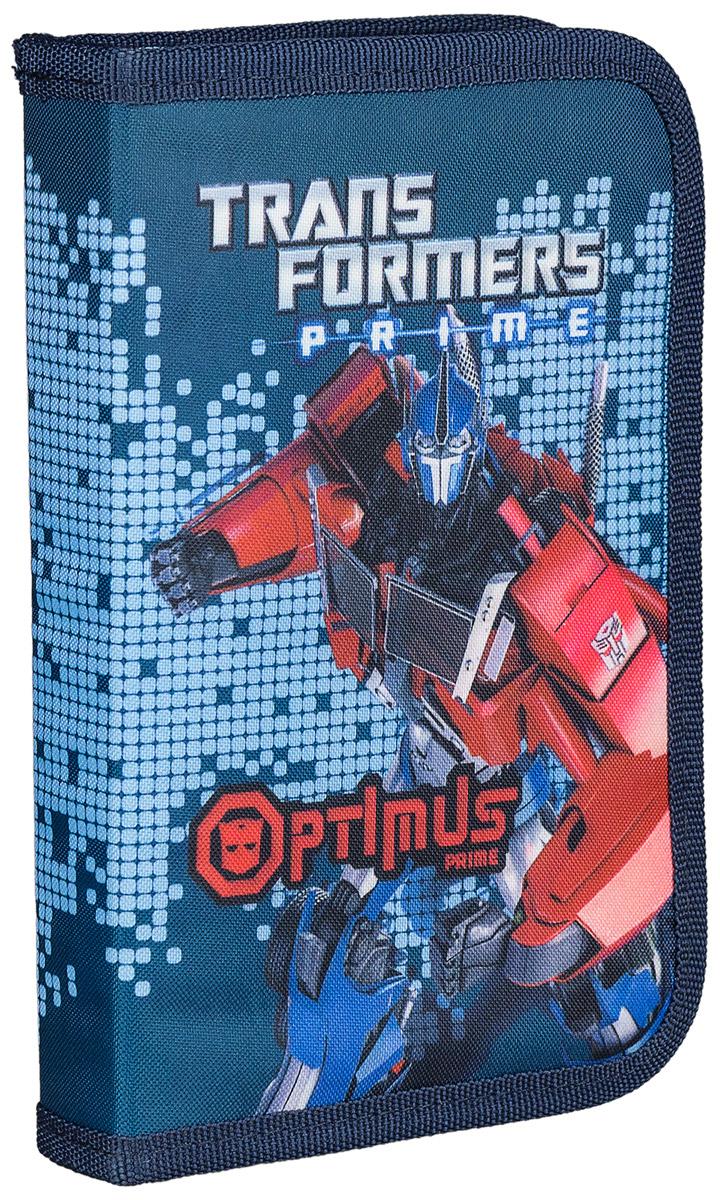 Transformers Пенал Optimus PrimeTRBB-UT1-031Стильный жесткий пенал Transformers Prime станет для ребенка незаменимым спутником в школе.Модель на застежке-молнии отличается оригинальным дизайном и хорошим качеством используемых материалов. Выполнен из высокопрочного полиэстера и содержит одно отделение с откидным клапаном и креплениями для канцелярских принадлежностей внутри.Принт с автоботом непременно понравится поклоннику Трансформеров.