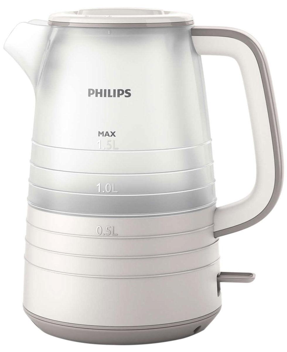 Philips HD9336/21 электрический чайникHD9336/21Благодаря тщательно продуманному дизайну уровень воды в чайнике просматривается под любым углом. Кроме того, микрофильтр эффективно фильтрует воду, удерживая известковые отложения. Надежное и эффективное кипячение воды и долгий срок службы.Понятный индикатор уровня воды просматривается с любой стороны благодаря прозрачному корпусу. Уровень воды обозначается с помощью стильных полосок с указанием количества чашек.Особый дизайн крышки, ручки и переключателя предотвращает образование конденсата и контакт с паром.Съемный микрофильтр в носике удерживает все частицы накипи размером > 180 микрон, чтобы вода всегда была чистой.Комплексная система безопасности для предотвращения короткого замыкания и выкипания воды. Функция автовыключения активируется, когда процесс завершается или прибор снимается с основания.Шнур оборачивается вокруг основания, что позволяет легко разместить чайник на кухне.Встроенный нагревательный элемент из нержавеющей стали обеспечивает быстрое кипячение и простую чистку.