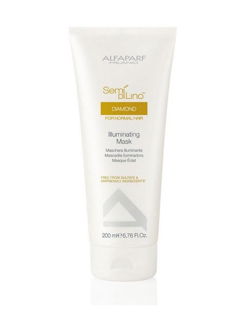 Alfaparf Маска для нормальных волос, придающая блеск Semi Di Lino Diamond Illuminating Mask 200 мл9996Alfaparf Semi DiLino Diamond Illuminating MaskМаска для нормальных волос, придающая блеск предназначена для поддержания здоровья волос на новом уровне. Данный продукт способствует эффективному оживлению волос, придаёт волосам блеск, усиливает и защищает его интенсивность, обеспечивает нормализацию витаминного баланса. В состав маски для нормальных волос Alfaparf Milano входит экстракт семени льна и специальный комплекс защиты цвета, которые препятствуют выгоранию и вымиранию волос.А такие витамины, как A, E и F обладают антиоксидантными свойствами, что благоприятно влияет на здоровье волос. Уже после первого применения маски Альфапарф Диамонд волосы станут намного более крепкими и устойчивыми к вредному влиянию внешних факторов.