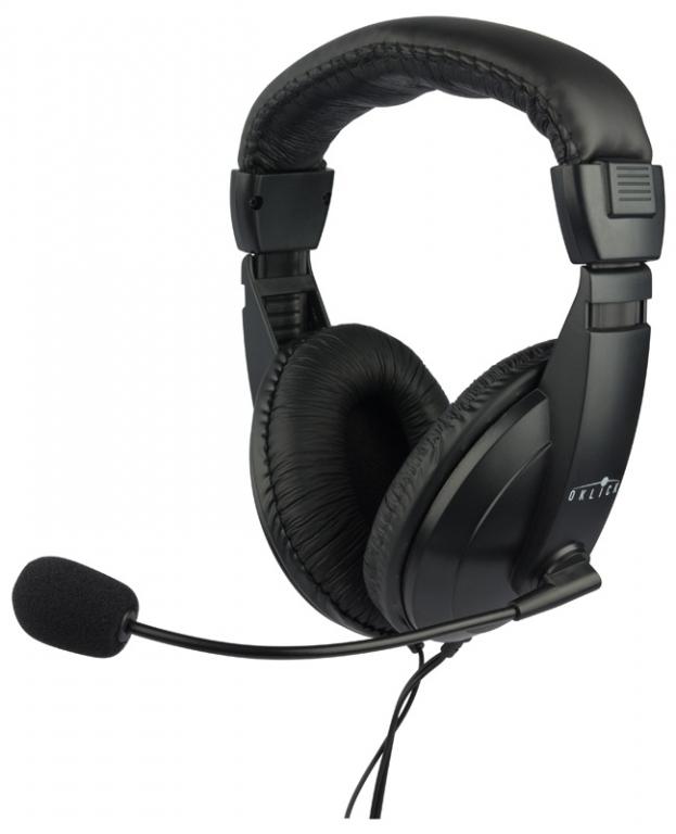 Наушники с микрофоном Oklick HS-M137V, Black - Офисные гарнитуры