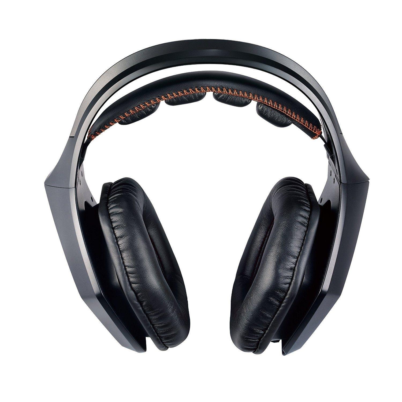 Игровая гарнитура ASUS Strix 7.1, Black90YH0091-M8UA00 Strix 7.1 — это новая гарнитура для геймеров с многоканальным звучанием 7.1, оснащенная 10 динамиками с неодимовыми магнитами. Она обладает полноразмерными кожаными чашками, диаметр которых достигает 130 мм, а также настраиваемой подсветкой. В комплекте с гарнитурой идет USB-аудиостанция, которая выполняет роль внешней звуковой карты и обеспечивает более тонкую настройку звука. Гарнитура Strix 7.1 гарантирует высокое качество звука, что позволяет полностью погрузиться в атмосферу виртуального мира.Как выбрать игровые наушники. Статья OZON Гид