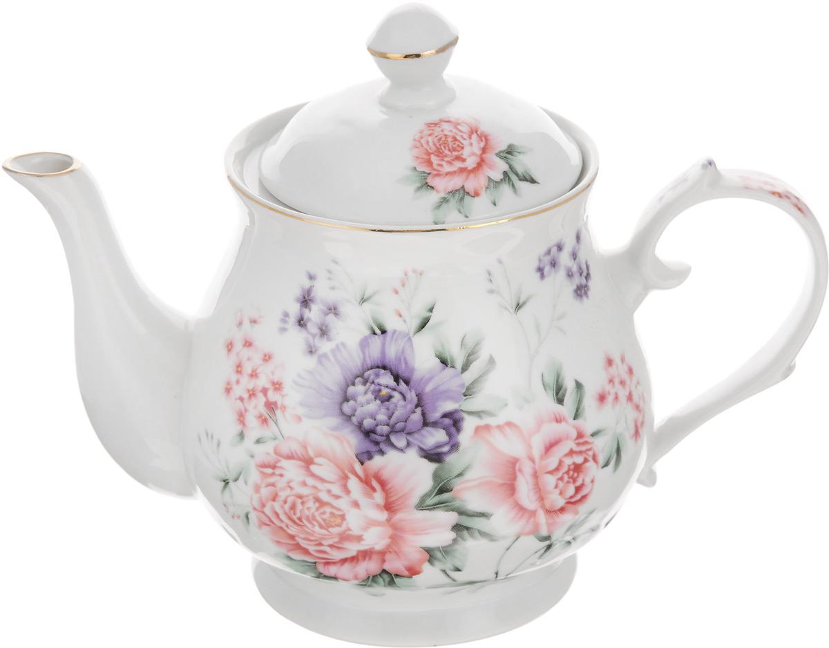 Чайник заварочный Loraine, 800 мл. 2458024580Заварочный чайник Loraine изготовлен из высококачественной керамики. Он имеет изящнуюформу и декорирован нежным цветочным рисунком. Чайник сочетает в себе стильный дизайн смаксимальной функциональностью. Красочность оформления придется по вкусу и ценителямклассики, и тем, кто предпочитает утонченность и изысканность.Чайник упакован в подарочную коробку из плотного картона. Внутренняя часть коробкизадрапирована атласом, и чайник надежно крепится в определенном положении благодаряособым выемкам в коробке.Высота чайника (без учета крышки): 12 см.Высота чайника (с учетом крышки): 17 см.Диаметр (по верхнему краю): 9 см.Диаметр основания: 8,5 см.