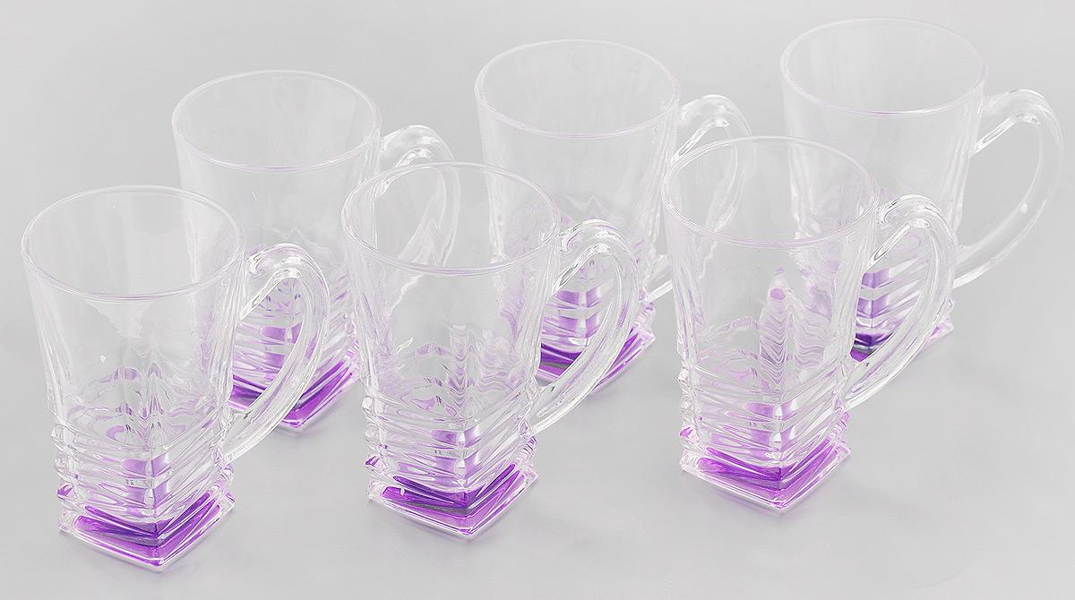 Набор стаканов Loraine, цвет: прозрачный, фиолетовый, 155 мл, 6 шт24082Набор Loraine состоит из 6 стаканов, выполненных из высококачественного стекла. Изделия декорированы изысканным рельефом, дно изделий цветное, это создает иллюзию того, что напиток цветной. Благодаря такому набору пить напитки будет еще вкуснее. Набор стаканов Loraine станет также отличным подарком на любой праздник. Подходит для горячих и холодных напитков. Не рекомендуется мыть в посудомоечной машине. Диаметр стакана (по верхнему краю): 6 см. Высота стакана: 10 см.